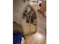 NEW church window garden mirror