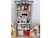 Bookcase. Table and four chairs