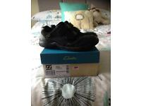 Clarks school shoes boys size 1 and a half..