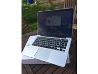 "2015 Apple Macbook Pro 13"" Retina Display + EXTRAS +New condition + Boxed"