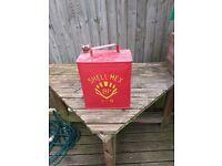 Vintage Shell Mex petrol can