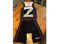 Triathlon Two Piece Suit - Zone 3 Lava Men's