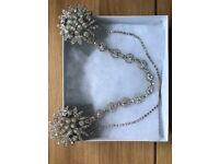 Amber spice double clip bridal hairpiece