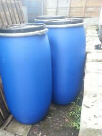Large Re-sealable, air tight storage drums Hotaspur SAS 60/160kg Alibaba Blue plastic bins 39 x16 in