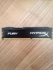 Kingston hyperx fury. 4gb ram