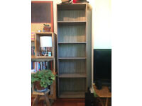 Dark oak finish bookcase bookshelf unit