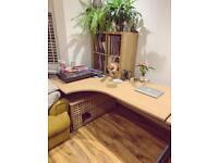 Office desk - 2 x large corner desks