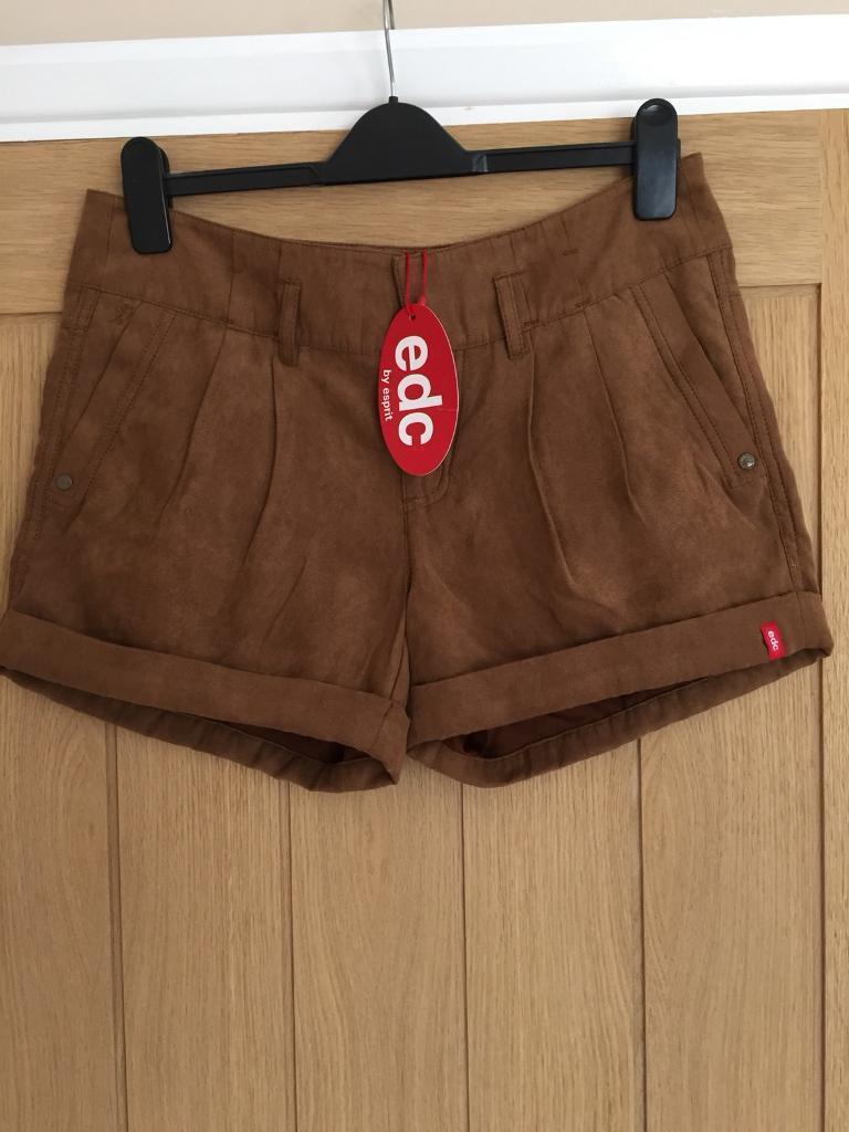 c7265542d519 New Esprit tan suede effect shorts - size 10   in Poringland, Norfolk ...