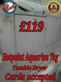 Hotpoint Aquarius £119 Condensor Tumble Dryer White 7kg