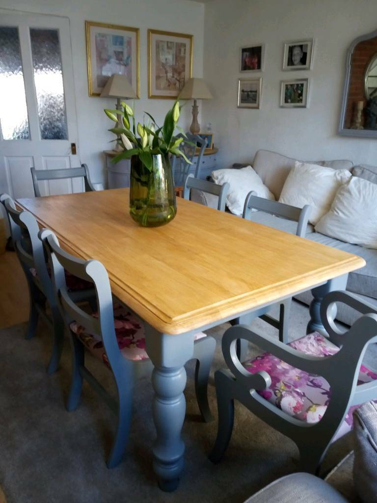 Beautiful Farmhouse Dining Table 6 Chairs Gloucester Road