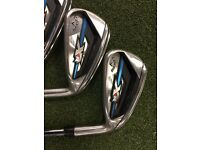 Callaway XR OS Iron Set 5-SW Standard Length, Regular Flex Shafts.