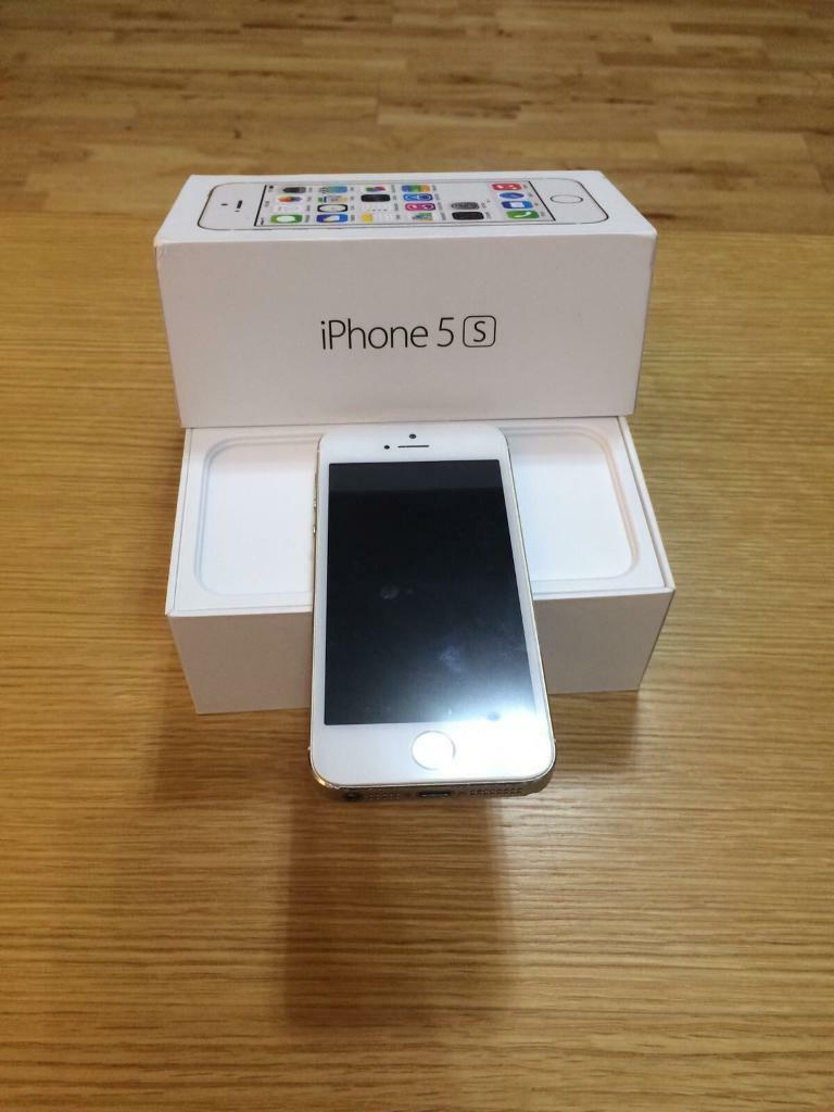iPhone 5s 32gb (whitegoldin Southampton, HampshireGumtree - iPhone 5s 32gb on EE ..Comes boxed with charger lead (no plug) & new screen protector..In good working order, only selling due to upgrade..Has a few slight marks on the frame (can be seen in pictures) it really is minimal and does not affect the...