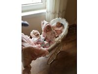 Beautiful dolls pram includes 3dolls and dolls clothes old fashioned pram and lovely dolls