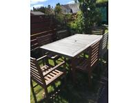 Wooden garden furniture free needs sanded and painted