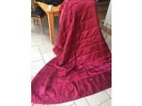 Satin bed cover