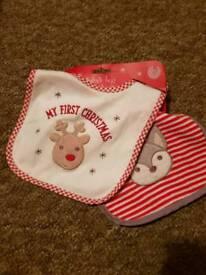 Baby Christmas bibs