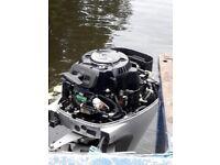 Honda 10hp 4 stroke outboard electric start + 12v charge