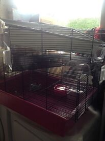 2 x Hamster cages for sale.
