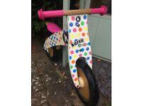 Kiddimoto balance bike £15 with helmet