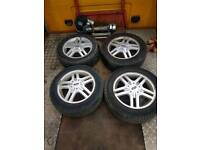 Ford focus 15 inch alloy wheels with good tyres