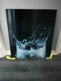 Waterdrop glass splashback (new)