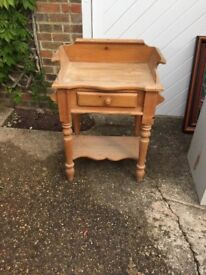 Solid pine wash stand