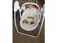 Mothercare baby chair swing teddy's toy box