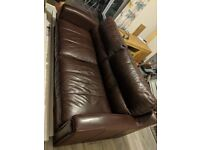 3 Seater 1 Chair leather Brown