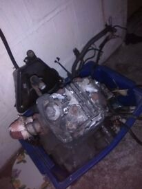 white knuckle 125cc engine from a 2013 plate