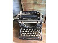 Vintage Underwood Typewriter American Original Old Working
