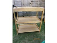 Mamas & Papas Oak very lightly used baby changer. Good quality useful storage