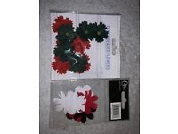 Card Making Red Black and White Flowers IP1