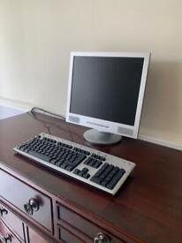 Computer Monitor and Keyboard Set up