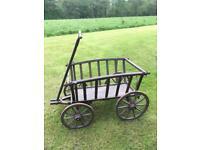 Antique/ Vintage wooden dog cart