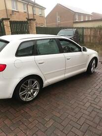 Audi A3 2.0 sline 138 2009 white cheap!!!
