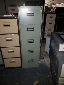 5 DRAWER BISLEY FILING CABINET IN GOOD CONDITION 1X ONLY £95