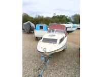 17ft weekend cruiser/sea fishing boat and trailer