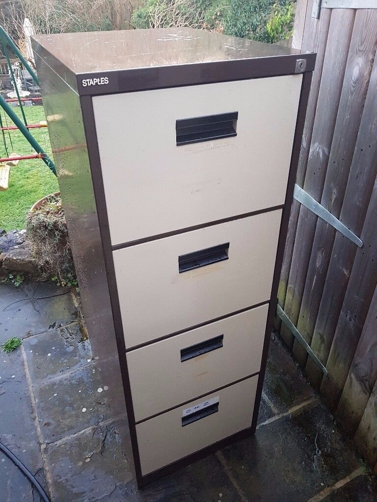 2 Large 4 Draw Metal Filing Cabinets One Or Two From