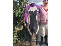 Woman's summer surfing wet suit size 10