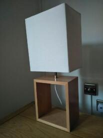 Wooden Table Lamps With Bulbs X2