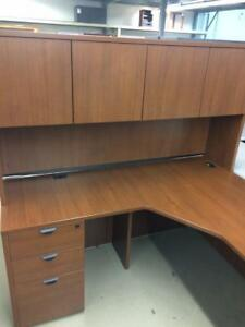 USED Office Furniture L Shaped Desk ( Looks New )