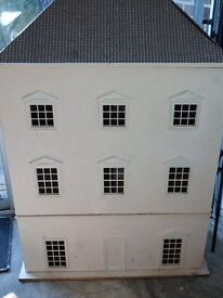 Victorian style dolls house with lights