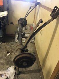 Rear axle fit 2003 caddy 1.9tdi cums with drums etc