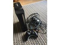 xbox 360- 120 g console with controller