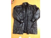 RETRO LONG LEATHER JACKET POSSIBLY USA