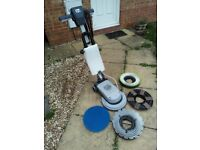 "13"" Numatic LoLine NLL332 Floor Polisher, Scrubber, Carpet Shampoo Machine With 3 New Brushes"