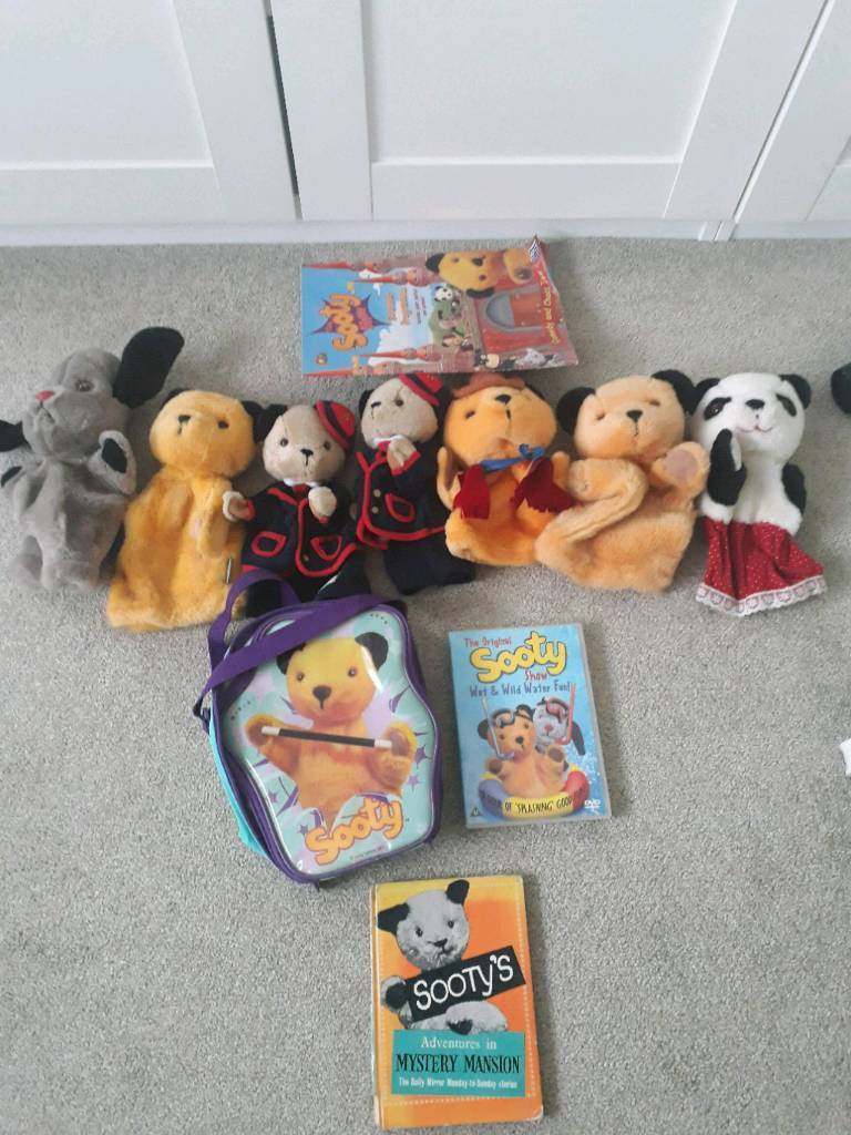 Sooty puppets poster annual backpack and book