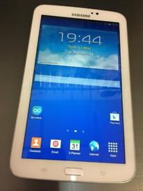 "Samsung galaxy Tab 3 7"" WiFi white excellent condition."