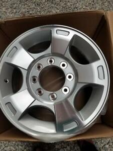 BRAND NEW   FORD F250  /  F350 FACTORY OEM 18  INCH 8 LUG ALLOY WHEEL SET OF FOUR   NO CENTER CAPS.NO SENSORS