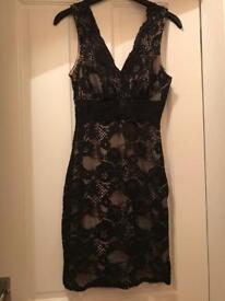Lipsy black lace dress size 8